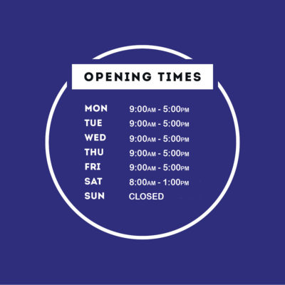 OPENING TIMES SIGN_